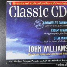 CDs de Música: JOHN WILLIAMS - BIRTWISTLE, SHOSTAKOVICH, VERACINI, RAUTAVAARA, MCPHEE, REICH, SCHOECK, HARVER, CD. Lote 122007483