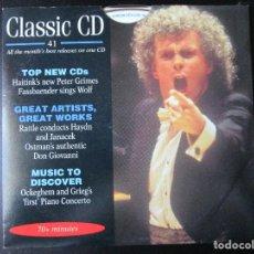 CDs de Música: HAITINK'S NEW PETER GRIMES FASSBAENDER SINGS WOLF - GREAT ARTIST, GREAT WORKS, CD. Lote 122008015