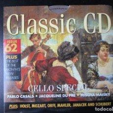 CDs de Música: CELLO SPECIAL - PABLO CASALS (SONATA Nº 3 BEETHOVEN) JACQUELINE DU PRE - MISCHA MAISKY - CD. Lote 122009771