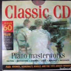 CDs de Música: PIANO MASTERWORKS - HAYDN, BEETHOVEN, CHOPIN, LISZT, DEBUSSY, MESSIAEN, BUSONI, GLASS, CD. Lote 122010559