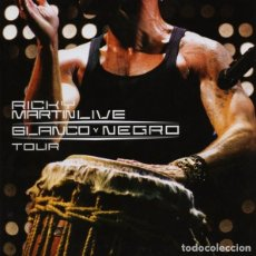 CDs de Música: RICKY MARTIN - BLACK AND WHITE TOUR (LIVE) - CD + DVD. Lote 122010843