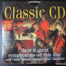 CDs de Música: HEAR 6 GREAT SYMPHONISTS ON THIS DISC - HAYDN, MOZART, BEETHOVEN, BRUCKNER, MAHLER, SHOSTAKOVICH, CD. Lote 122010931