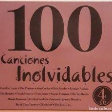 CDs de Música: 4 CD'S EN ESTUCHE, 100 CANCIONES INOLVIDABLES.. Lote 122011287