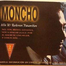 CDs de Música: DOBLE CD, MONCHO MIS 30 BOLEROS FAVORITOS . Lote 122012279