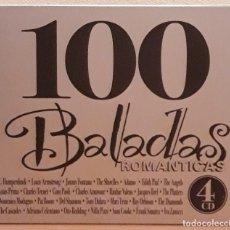 CDs de Música: CUATRO CD'S EN ESTUCHE, 100 BALADAS ROMANTICAS. Lote 122012655