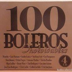 CDs de Música: CUATRO CD'S EN ESTUCHE, 100 BOLEROS INOLVIDABLES. Lote 122013043