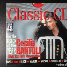 CDs de Música: CECILIA BARTOLI (CENERENTOLA) BACH, BRAHMS, MOZART, SCHUBERT, SCHOENBERG, DELIUS, TAVENER,MAHLER, CD. Lote 122013879