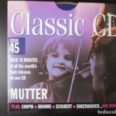CDs de Música: MUTTER (RAVEL) CHOPIN, BRAHMS, PURCELL, LISZT, SCHUBERT, ROSSINI, THOMAS, SULLIVAN, CD. Lote 122015063