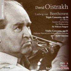CDs de Música: BEETHOVEN - TRIPLE CONCIERTO OP.56 , CONCIERTO VIOLIN OP.61 (CD) DAVID OISTRAKH. Lote 122017707