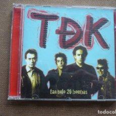 CDs de Música: TDK TAN SOLO 20 BOMBAS CD 2003. Lote 122170463