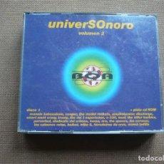 CDs de Música: UNIVERSONORO VOLUMEN 2 DOBLE CD MANOLO KABEZABOLO COOPER BOIKOT MAMA LADILLA. Lote 122170767