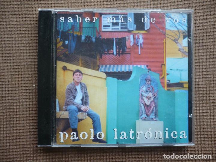 PAOLO LATRONICA SABER MAS DE VOS CD SANTANDER 2001 (Música - CD's Rock)