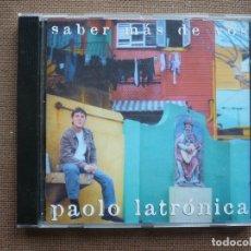 CDs de Música: PAOLO LATRONICA SABER MAS DE VOS CD SANTANDER 2001. Lote 122171551