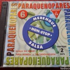 CDs de Música: PARA QUE NO PARES 6 CD DOBLE MERENGE NON-STOP SALSA INCLUYE NIÑA BONITA Y LA SANDUNGUITA. Lote 122195094