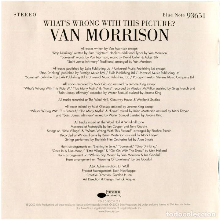 CDs de Música: Van Morrison – What's Wrong With This Picture? - CD Argentina 2003 - Blue Note 93651 - Foto 4 - 122294563