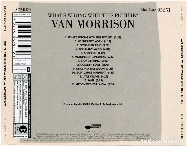 CDs de Música: Van Morrison – What's Wrong With This Picture? - CD Argentina 2003 - Blue Note 93651 - Foto 6 - 122294563