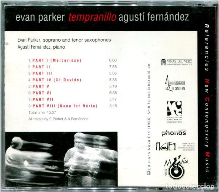 CDs de Música: Evan Parker & Agustí Fernández - Tempranillo - CD Spain 1996 - Música Secreta NCM4 - Foto 2 - 122311875