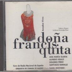 CDs de Música: DOÑA FRANCISQUITA CD AMADEO VIVES ALFREDO KRAUS 1995 ZARZUELA ZAFIRO. Lote 122485275