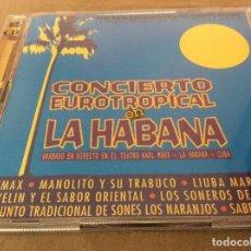 CDs de Música: CONCIERTO EUROTROPICAL EN LA HABANA - 2 CD.. Lote 122546583