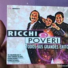 CDs de Música: DOBLE CD RICCHI E POVERI TODOS SUS GRANDES EXITOS KONGA MUSIC NUEVO PRECINTADO. Lote 122623683