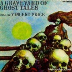 CDs de Música: VINCENT PRICE - A GRAVEYARD OF GHOST TALES (CD) CAEDMON RECORDS - NUEVO!!. Lote 122707559