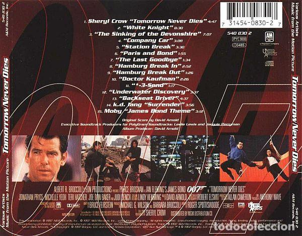 CDs de Música: David Arnold ?– Tomorrow Never Dies (Music From The Motion Picture) ]ed.:EU, 1997] - Foto 2 - 122833307