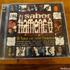 CDs de Música: SABOR FLAMENCO 30 TEMAS 2CD CON SABOR FLAMENCO RAIMUNDO AMADOR NIÑA PASTORI PACO DE LUCÍA CAMARÓN. Lote 122919484