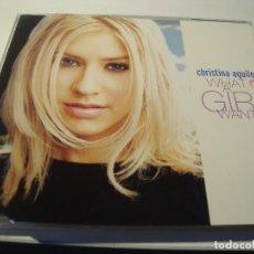 CDs de Música: RAR MAXI CD. CHRISTINA AGUILERA. WHAT A GIRL WANTS. 3 TRACKS. Lote 122953503