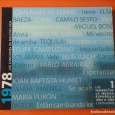 CDs de Música: LAS CANCIONES DE NUESTRA VIDA 1 (1978) TEQUILA,M.BOSE,SABINA.... Lote 123038087