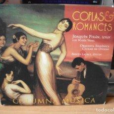 CDs de Música: COPLAS & ROMANCES - ORQUESTA DE OVIEDO - JOAQUÍN PIXÁN, MARÍA VIDAL. DIRIGIDO POR BENITO LAURET CD. Lote 123116551