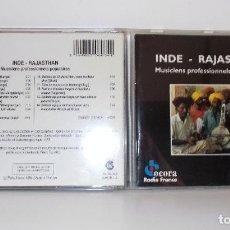 CDs de Música: INDE - RAJASTHAN, MUSICIENS PROFESSIONELS POPULAIRES, OCORA CD FOLK INDIA 1994. Lote 123127303