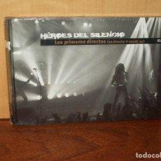 CDs de Música: HEROES DEL SILENCIO- LOS PRIMEROS DIRECTOS (EN DIRECTO+ SENDA 91) CD + LIBRETO EL PAIS NUEVO. Lote 123355687
