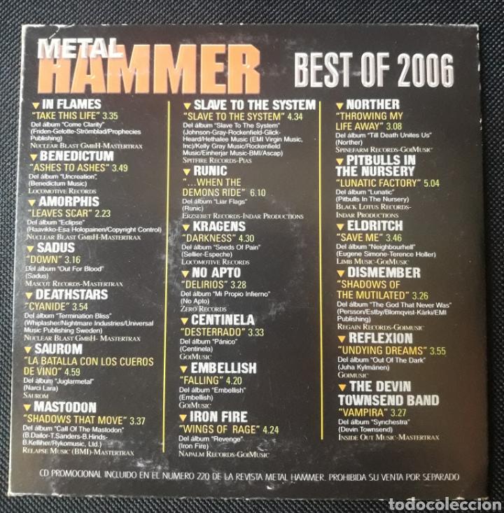CDs de Música: Metal Hammer Best Of 2006 CD In Flames, Amorphis, Mastodon, etc. - Foto 2 - 123451044