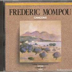 CDs de Música: FREDERIC MOMPOU CD CANÇONS 1989 PDI CARME BUSTAMANTE SOPRANO CARME BRAVO PIANO. Lote 123510471