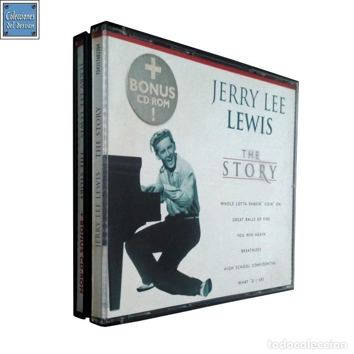 THE STORY / JERRY LEE LEWIS / CD + CD - ROM / EMI 2000 (Música - CD's Rock)