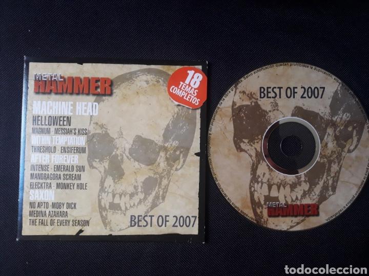 METAL HAMMER BEST OF 2007 CD MACHINE HEAD SAXON MEDINA AZAHARA ETC (Música - CD's Heavy Metal)
