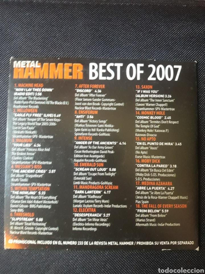 CDs de Música: Metal Hammer Best of 2007 CD Machine Head Saxon Medina Azahara etc - Foto 2 - 123574287