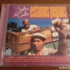 CDs de Música: CD - VARIOS - ESTAMOS PEGAOS - SALSA DE CUBA - AÑO 1997 - EDICIÓN CUBANA. Lote 123768507