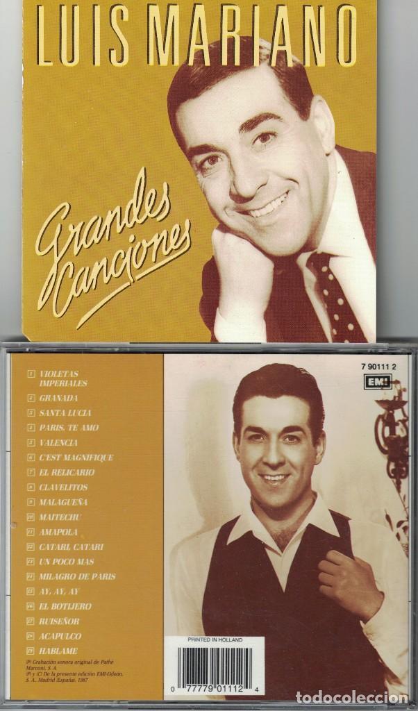 LUIS MARIANO - GRANDES CANCIONES (CD, EMI 1988) (Música - CD's Melódica )