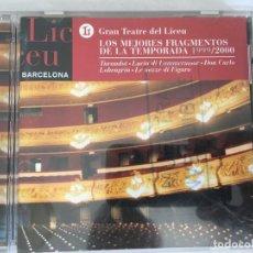 CDs de Música: CD GRAN TEATRO DEL LICEU-LOS MEJORES FRAGMENTOS DE LA TEMPORADA 1999/2000. Lote 124221539