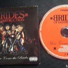 CDs de Música: BRIDES OF DESTRUCTION - CD ÁLBUM PROMOCIONAL HERE COMES THE BRIDES. Lote 124222503