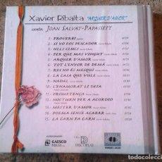 CDs de Música: XAVIER RIBALTA CANTA POEMES DE SALVAT PAPASSEIT. Lote 124301711