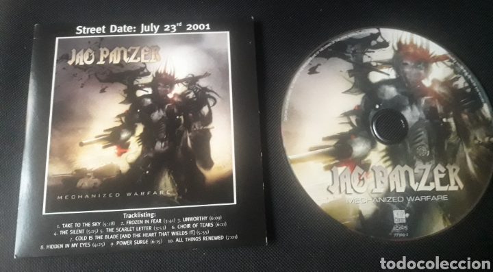 JAG PANZER - MECHANIZED WARFARE CD ÁLBUM PROMOCIONAL (HEAVY METAL 2001 ) (Música - CD's Heavy Metal)