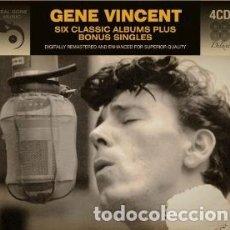 CDs de Música: GENE VINCENT: SIX CLASSIC ALBUMS PLUS BONUS SINGLES (4 CDS). Lote 124436235