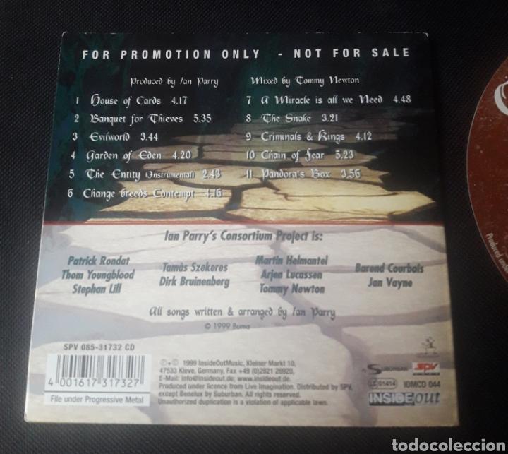 CDs de Música: Ian Parry's Consortium Project- CD álbum promocional (prog rock heavy metal) 1999 - Foto 2 - 124453044