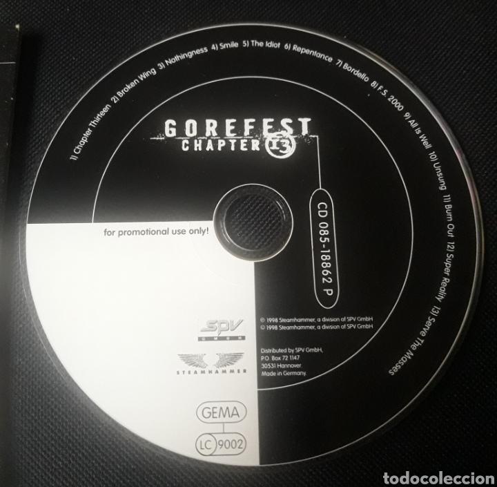 CDs de Música: Gorefest - Chapter 13 - CD álbum promocional (death metal 1998 ) - Foto 2 - 124460091