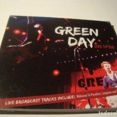 CDs de Música: RAR CD. GREEN DAY. LIVE TO AIR. BROADCAST LIVE. DIGIPACK. SEALED. MINT. Lote 124578463