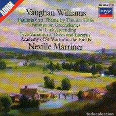 CDs de Música: VAUGHAN WILLIAMS - CD ALBUM DE 4 TEMAS CLÁSICOS - DIRIGE: NEVILLE MARRINER - DECCA / ARGO 1985. Lote 124807715