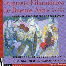 CDs de Música: ORQUESTA FILARMÓNICA DE BUENOS AIRES - LIVE IN THE CONCERTGEBOW - DIRIGE: GABOR ÖTVÖS - CD 1994. Lote 124812939