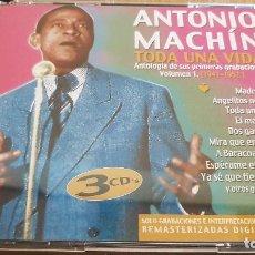 CDs de Música: ANTONIO MACHÍN / TODA UNA VIDA / BOX-SET 3 CD / REMASTERIZADO - 66 TEMAS / LUJO.. Lote 124891215